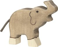 HT Elefantenkalb Rüssel hoch
