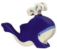 HT Blauwal mit Wasserfontäne