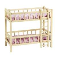 Puppen-Etagenbett mit Leiter