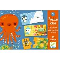 Lernspiel - Puzzle duo: Verstecken spielen