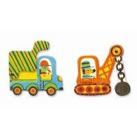 Lernspiel - Puzzle duo: Bewegte Fahrzeuge